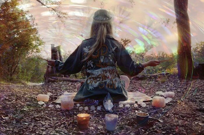 FEATHER JUNKIES: CRYSTAL YOGA VISIONS