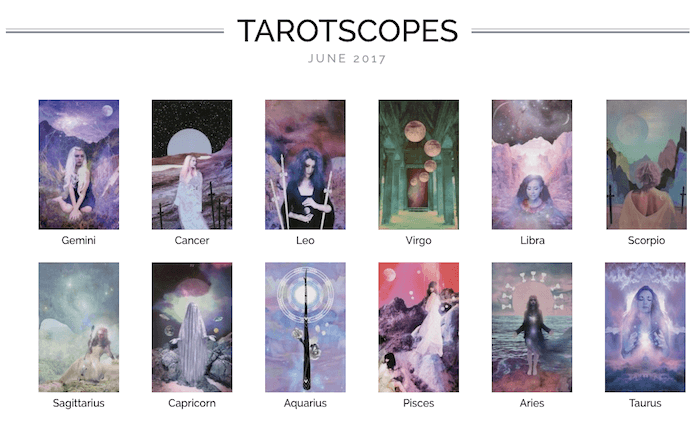 NUMINOUS TAROTSCOPES: JUNE 2017