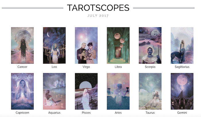 NUMINOUS TAROTSCOPES: JULY 2017