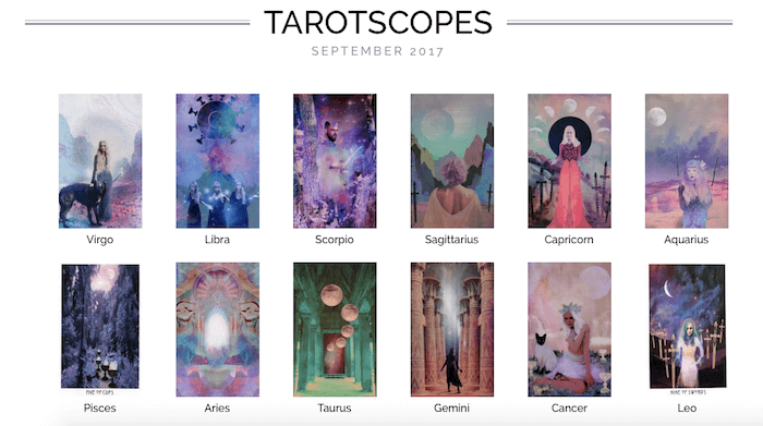 NUMINOUS TAROTSCOPES: SEPTEMBER 2017