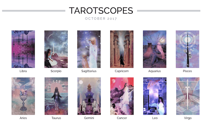 NUMINOUS TAROTSCOPES: OCTOBER 2017