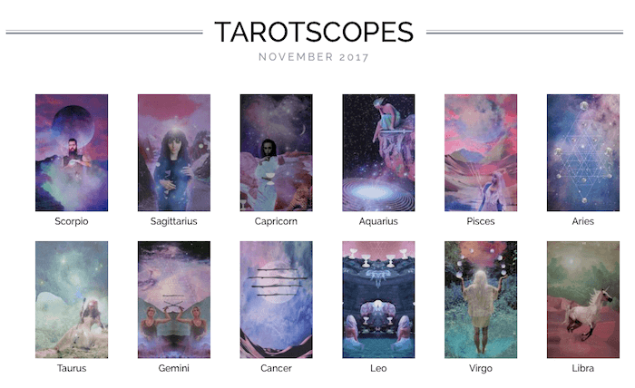 NUMINOUS TAROTSCOPES: NOVEMBER 2017
