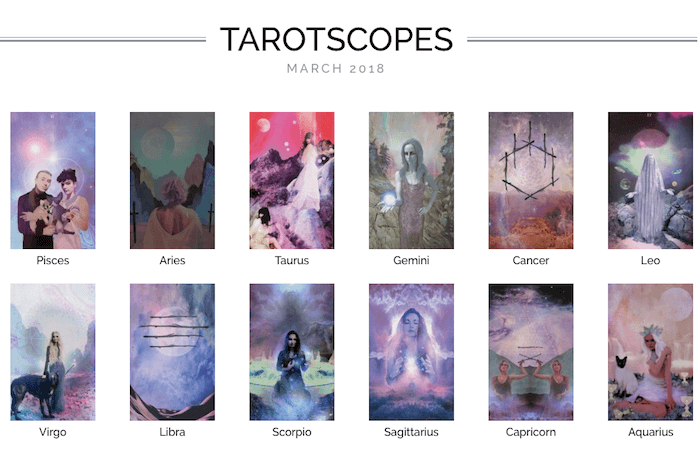 NUMINOUS TAROTSCOPES: MARCH 2018
