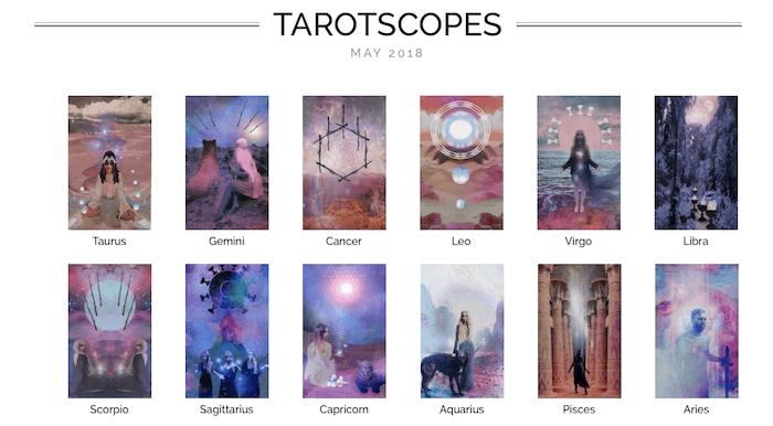 NUMINOUS TAROTSCOPES: MAY 2018