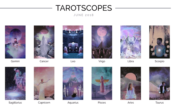 NUMINOUS TAROTSCOPES: JUNE 2018
