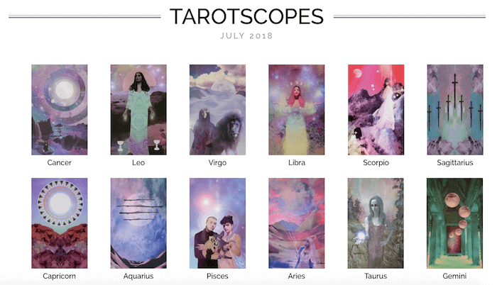 NUMINOUS TAROTSCOPES: JULY 2018