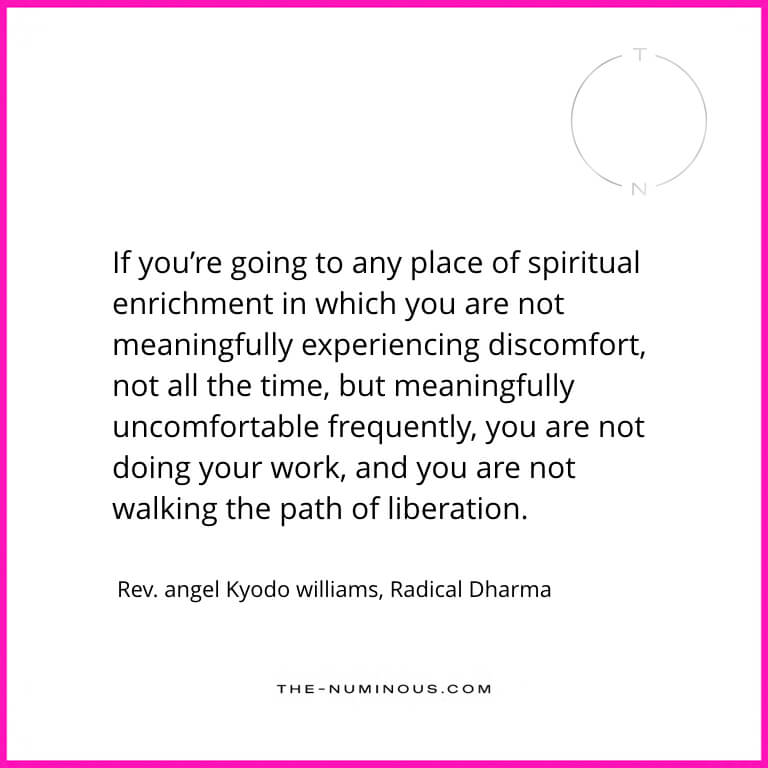 radical dharma book quote angel kyodo williams The Numinous