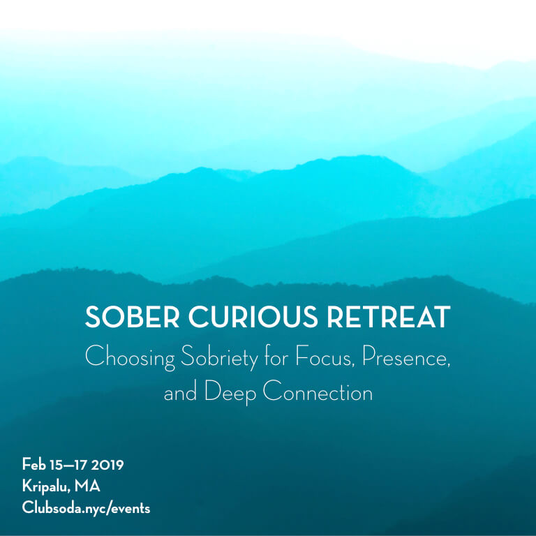 Sober Curious Ruby Warrington retreat February 2019 Kripalu