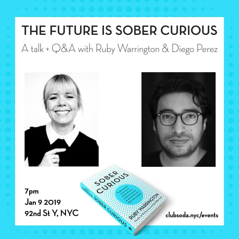 Sober Curious book launch NYC Ruby Warrington Diego Perez