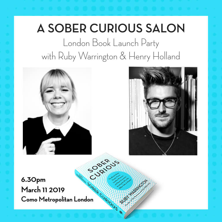 Sober Curious London book launch event Ruby Warrington Henry Holland